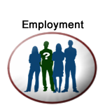 Department of Employment logo with a group of 4 people as background