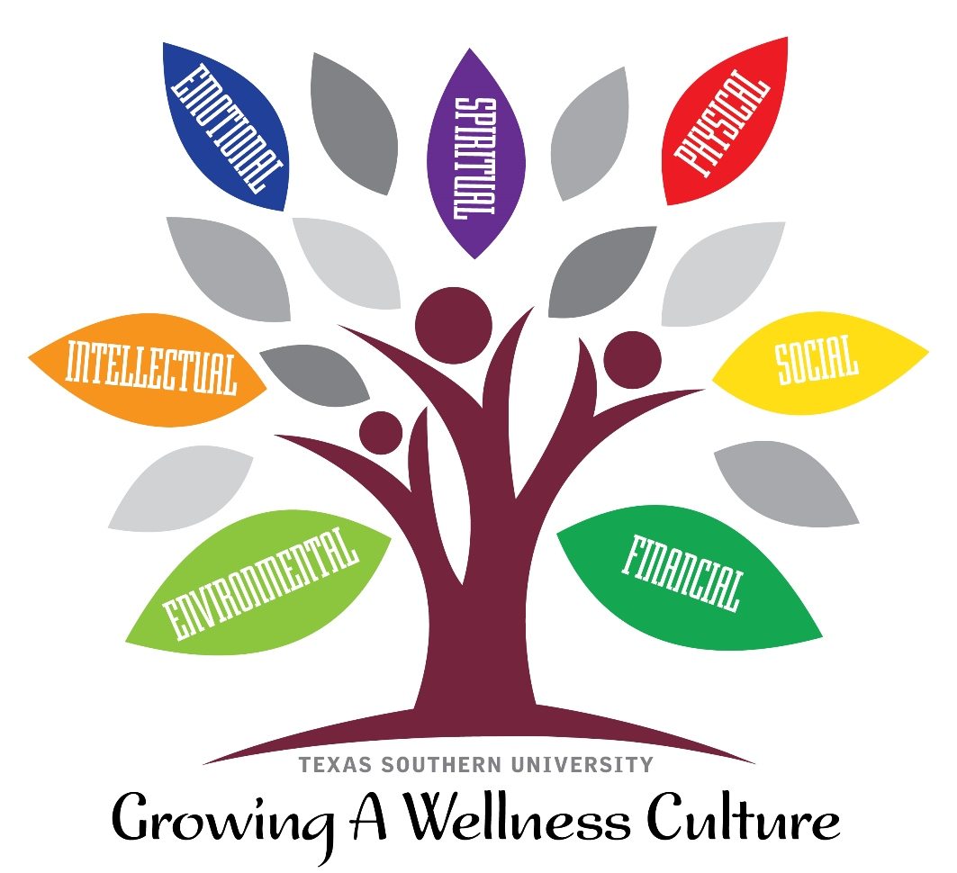 Growing a Wellness culture of Texas Southern University represents as a tree
